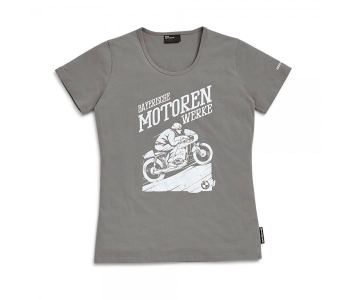BMW Motorrad T-Shirt Bergkönig Γυναικείο Γκρι ΕΝΔΥΣΗ